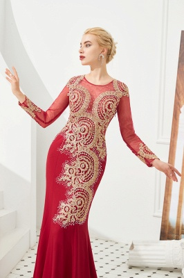Evening dress long red | Prom dresses with sleeves_10