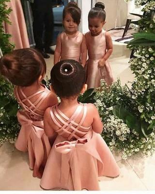 Flower girl dress pink | Flower girl dresses for children_2