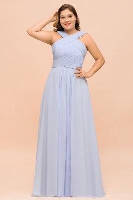 Lavender Brautjungfernkleider Große Größe | Chiffon Kleider Lang Günstig_1