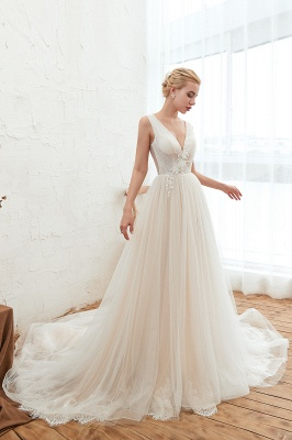 Elegante Hochzeitskleid A linie | Brautkleider Chiffon Günstig Online_6