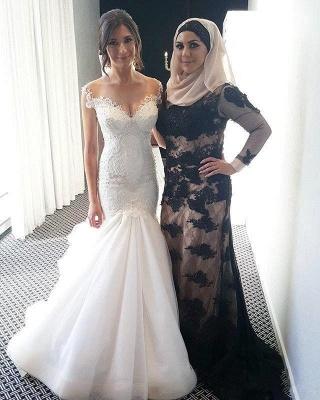 Made to measure wedding dresses white lace mermaid straps wedding fashions bridal fashions_4