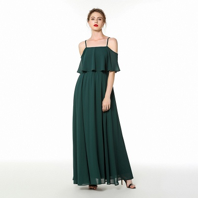 Evening dress green | Festive chiffon dresses