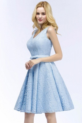 Blue cocktail dresses short | Prom dresses with lace_4