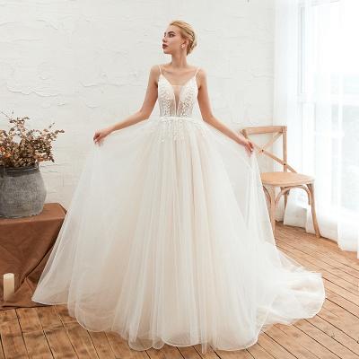 Modern Brautkleid A linie   Tülle Hochzeitskleider mit Spitze_8