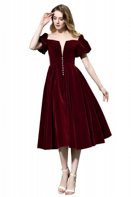 Evening dresses short wine red | Cocktail dresses cheap online_8
