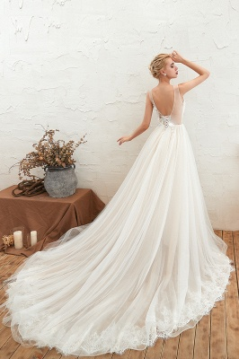 Elegante Hochzeitskleid A linie | Brautkleider Chiffon Günstig Online_13