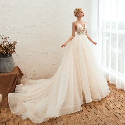 Elegant wedding dresses A line | Wedding dresses with lace online_9