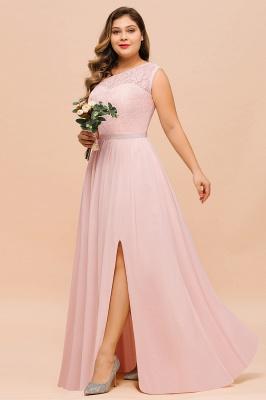 Elegante Brautjungfernkleider Lang Rosa | Brautjungfernkleid mit Spitze_6
