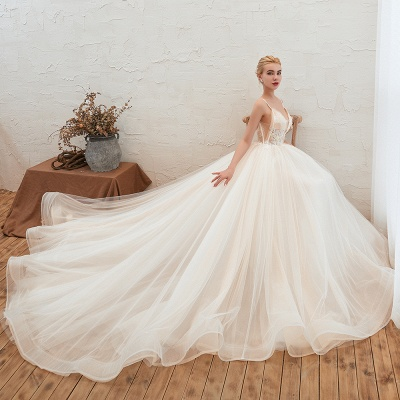 Elegant wedding dresses A line | Wedding dresses with lace online_4