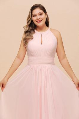 Rosa Brautjungfernkleider Große Größe   Übergroße Brautjungfernkleid_8