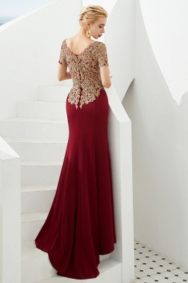 Evening dresses long glitter | Red prom dresses with sleeves_3