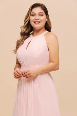 Rosa Brautjungfernkleider Große Größe   Übergroße Brautjungfernkleid_7