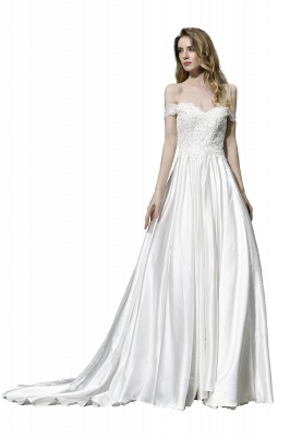 Simple wedding dresses cheap | Wedding dress A line_3