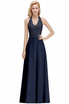 Silver Evening Dresses Long V Neck | Evening dress with lace_4