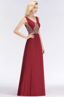 Vintage Evening Dress Long V Neck | Red prom dresses cheap