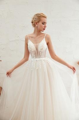 Modern Brautkleid A linie   Tülle Hochzeitskleider mit Spitze_21