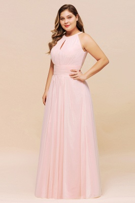 Rosa Brautjungfernkleider Große Größe   Übergroße Brautjungfernkleid_6