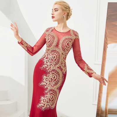 Evening dress long red | Prom dresses with sleeves_11
