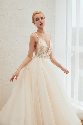 Elegant wedding dresses A line | Wedding dresses with lace online_16