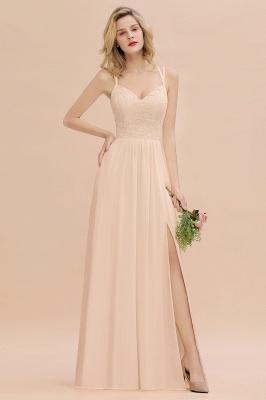 Coral Brautjungfernkleider Lang Günstig   Hochzeitsgäste Kleider_5