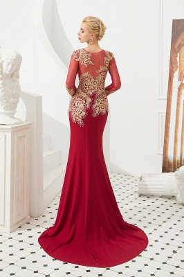 Evening dress long red | Prom dresses with sleeves_5