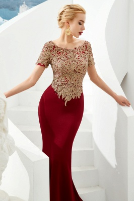 Evening dresses long glitter | Red prom dresses with sleeves_4