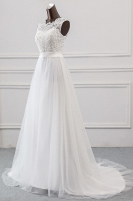Designer wedding dress A line | Bridal wear with lace_4