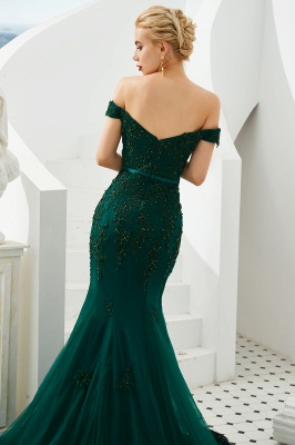 Evening dress green | Long lace prom dresses_7