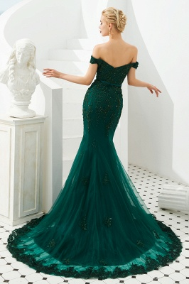 Evening dress green | Long lace prom dresses_6