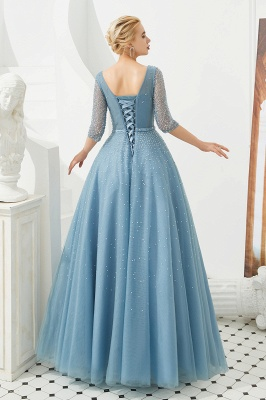 Evening dresses blue | Prom dresses long with sleeves_8