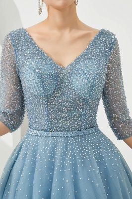 Evening dresses blue | Prom dresses long with sleeves_9
