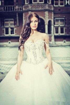 Prinzessin Brautkleider Mit Spitze Perlen Organza Hochzeitskleider Brautmoden_2