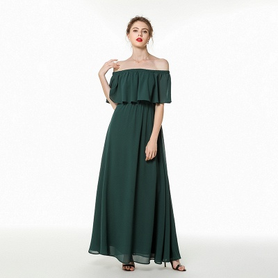 Chiffon dresses | Evening dress dark green_7