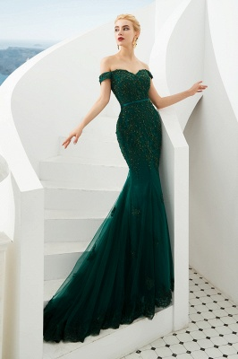 Evening dress green | Long lace prom dresses_3