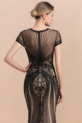 Elegante Abendkleider Lang Schwarz | Abiballkleider mit Glitzer_8