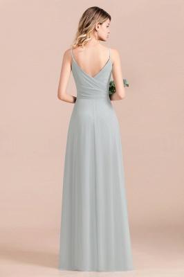 Schlichtes Abendkleid Chiffon | Brautjungfernkleider Lang Günstig_4