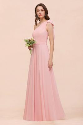 Brautjungfernkleider Lang Rosa   Chiffon Kleider Brautjungfern Günstig_1