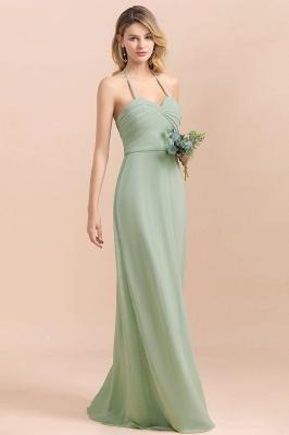 Grüne Brautjungfernkleider Lang Chiffon   Günstige Hochzeitspartykleider_6
