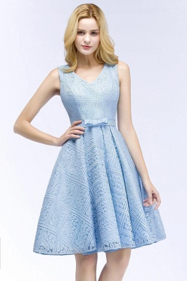 Blue cocktail dresses short | Prom dresses with lace_9