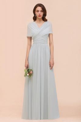 Silber Brautjungfernkleider Lang Günstig   Kleider Für Brautjungfern_1