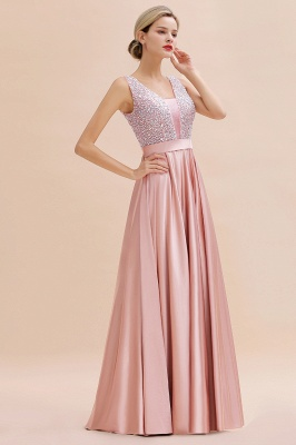 Evening dress long pink | Chiffon dresses prom dresses_8