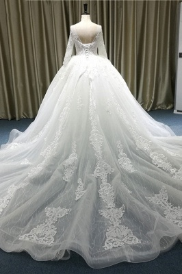 Lace wedding dresses princess | Wedding dresses with sleeves_3