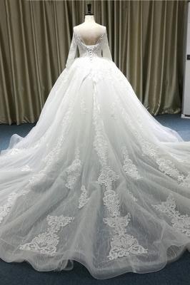 Spitze Brautkleider Prinzessin | Hochzeitskleider mit Ärmel_3