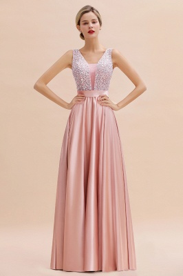 Evening dress long pink | Chiffon dresses prom dresses_11