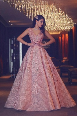 Pink Quniceanera Dresses 2021 Lace A Line Prom Dresses Evening Gowns Cheap_1