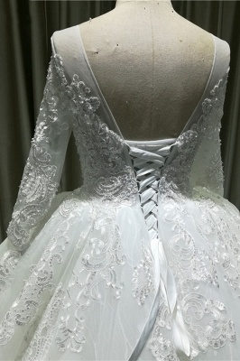 Lace wedding dresses princess | Wedding dresses with sleeves_5