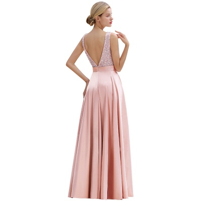 Evening dress long pink | Chiffon dresses prom dresses_7