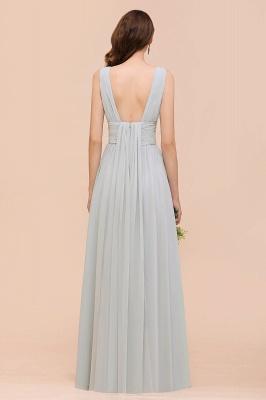 Silber Brautjungfernkleider Lang Günstig   Kleider Für Brautjungfern_3