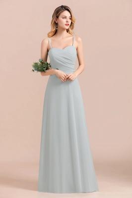 Schlichtes Abendkleid Chiffon | Brautjungfernkleider Lang Günstig_5