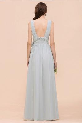 Silber Brautjungfernkleider Lang Günstig   Kleider Für Brautjungfern_10